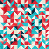 Abstract Background. With different colored triangles and grunge texture stock illustration
