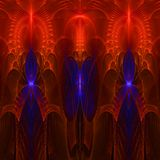 Clorful abstract fractal wallpaper with different and many shapes. Abstract background with different forms and different colors for any purposes royalty free illustration