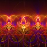 Colorful abstract fractal wallpaper with different and many shapes. Abstract background with different forms and different colors for any purposes royalty free illustration