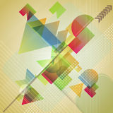 Abstract  background with different geometric shapes. Vector illustration Stock Photography