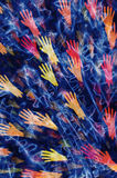 Abstract background from different open hands Royalty Free Stock Photos