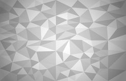 Abstract background of different triangles. Grey geometric vector background Royalty Free Stock Photos