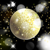 Abstract background with disco ball Stock Photo