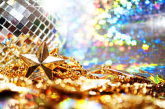 Abstract background with disco ball and star Stock Images