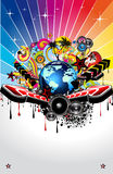 Abstract Background For Disco Flyers. Global Music Event Abstract Background For Disco Flyers Stock Photo