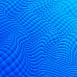 Abstract background of distorted geometric shapes. The curvature of space. Shades of blue Royalty Free Stock Images