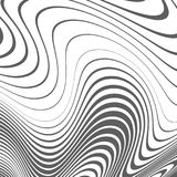 Abstract background with distorted lines. The curvature of space. Fluid motion. Paint stains Royalty Free Stock Photography