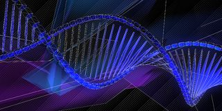 abstract background dna 皇族释放例证