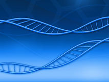 Abstract background with DNA. Blue abstract illustration of background with two DNA Stock Photos
