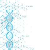 Abstract background with DNA molecule structure. Abstract background with DNA strand molecule structure. genetic and chemical compounds royalty free illustration