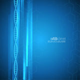 Abstract background with DNA molecule structure. Abstract background with DNA strand molecule structure. genetic and chemical compounds Stock Images