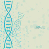 Abstract background with DNA molecule structure Stock Photos