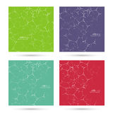Abstract background with DNA strand. Atom, molecule structure. genetic and chemical compounds. vector green, violet, purple, red royalty free illustration