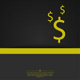 Abstract background with a dollar sign. Stock Images