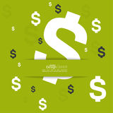 Abstract background with dollar sign Stock Photography