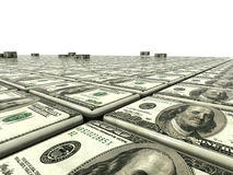 Abstract background from dollars Stock Image