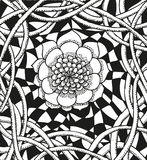Abstract background with doodling hand drawn Royalty Free Stock Images