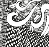 Abstract background with doodling hand drawn patterns Royalty Free Stock Image
