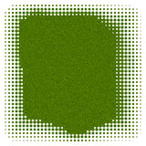 Abstract Background With Dots. Green background framed with dots stock illustration