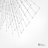 Abstract background with dots and lines. Connection structure. Network illustration concept. The structural grid of polygons and lines. Gray background. Vector Stock Photography