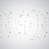 Abstract background with dots and lines. Geometric modern technology vector Royalty Free Stock Images