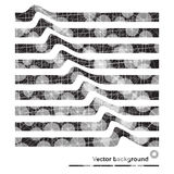 Abstract background with dots and lines on theme digital. Technology and internet Vector Illustration