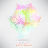 Abstract background with dots and lines on theme digital. Technology and internet Stock Photos
