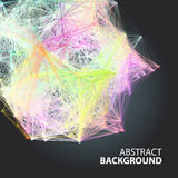 Abstract background with dots and lines on theme digital. Technology and internet Royalty Free Illustration