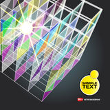 Abstract background with dots and lines on theme digital. Technology and internet Royalty Free Stock Photography