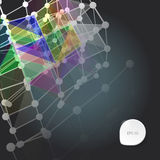 Abstract background with dots and lines on theme digital. Technology and internet Stock Illustration