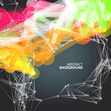 Abstract background with dots and lines on theme digital. Technology and internet Royalty Free Stock Photos