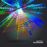 Abstract background with dots and lines on theme digital Stock Photography