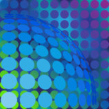 Abstract background with dots and sphere from dots. Royalty Free Stock Photography
