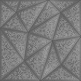 Abstract background of dots and triangles. Perforation of geometric shapes. Shades of gray Royalty Free Stock Photo