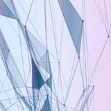 Abstract background with dotted grid. And triangular cells royalty free illustration
