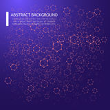 Abstract background with dotted grid and poligonal elements. Vector illustration EPS10 Royalty Free Stock Image