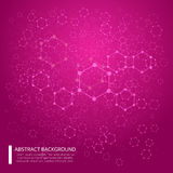 Abstract background with dotted grid and poligonal elements. Vector illustration EPS10. Pink abstract background with dotted grid and poligonal elements. Vector royalty free illustration