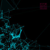 Abstract background with dotted grid Stock Photography