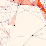 Abstract background with dotted grid. And triangular cells Stock Images