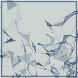 Abstract background with dotted grid. And triangular cells vector illustration