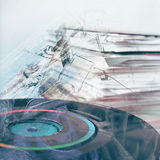 Abstract background. Double exposure Royalty Free Stock Photo