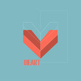 Abstract background with drawings of the heart. Flat design. concept. background Stock Photography