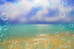 Abstract background-dream about sea, rest Royalty Free Stock Image