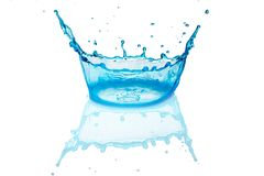 Abstract background, colored waterdrop splashing, liquid art royalty free stock image