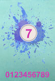 Abstract background with drops and numbers. Vector Stock Photos