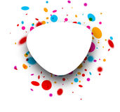 Abstract background with drops. Paper abstract white background with color drops. Vector illustration Royalty Free Stock Photo