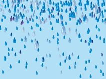 Abstract background with drops of rain. Illustration Stock Photo