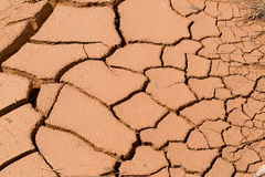 Abstract background - the dry surface of the earth with cracks Royalty Free Stock Photography