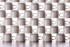 Abstract background of drying coffee cups Stock Images