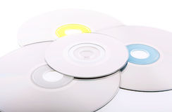 Abstract background of DVD's Royalty Free Stock Photo